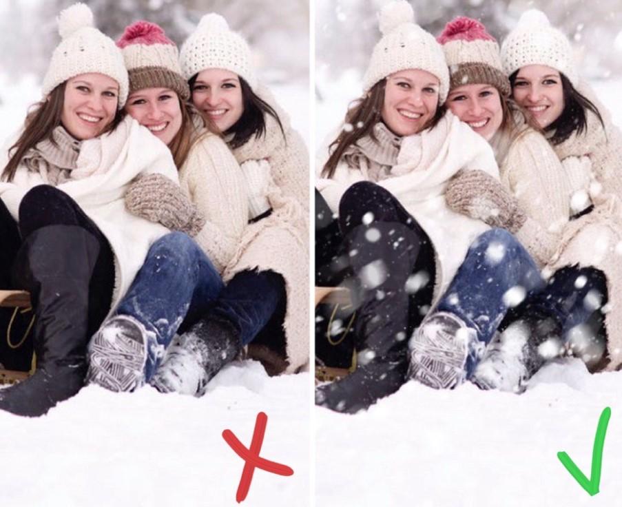 как добавить снег