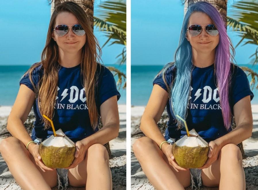 Как изменить цвет волос в приложении