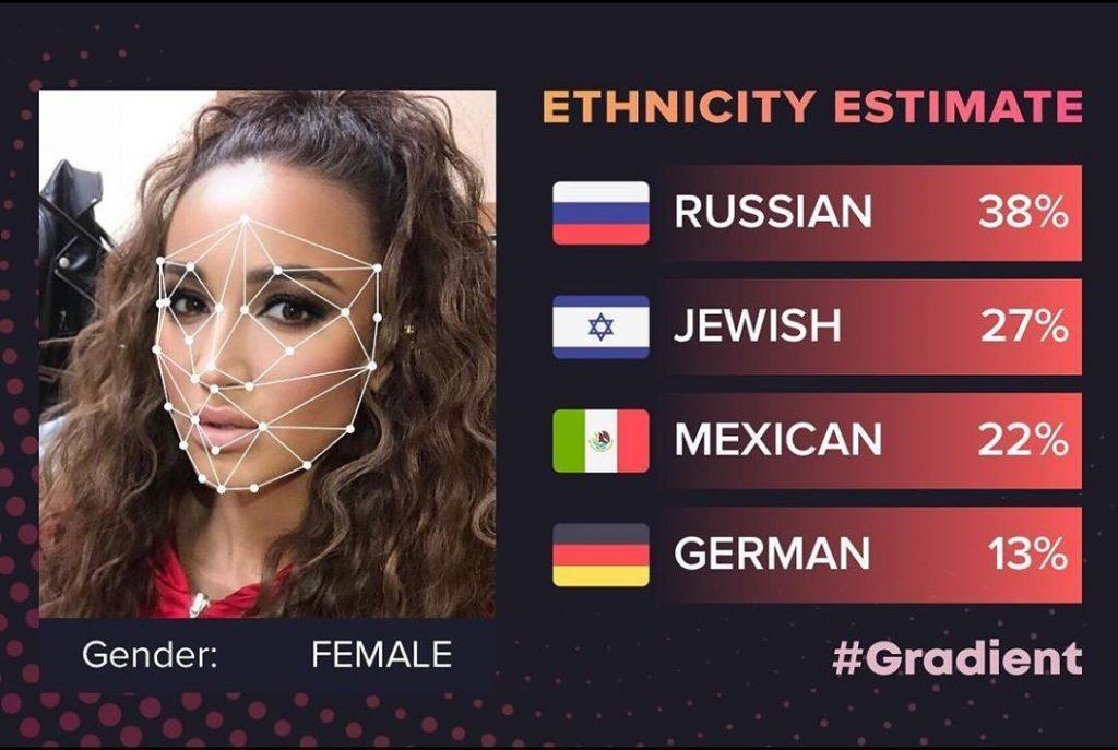 Приложение определяющее национальность по фото